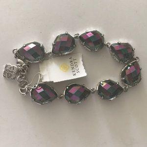 Kendra Scott silver iridescent bracelet blue rare
